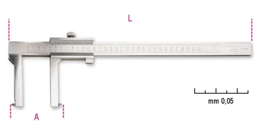Calibro ventesimale beta 1650ft - dettaglio 1
