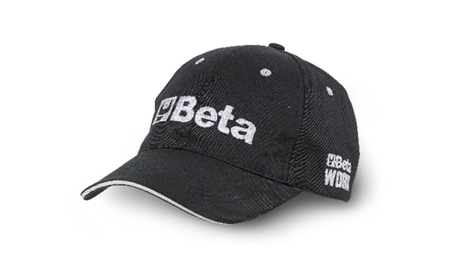 Beta cappellino workwear canvas black - dettaglio 1