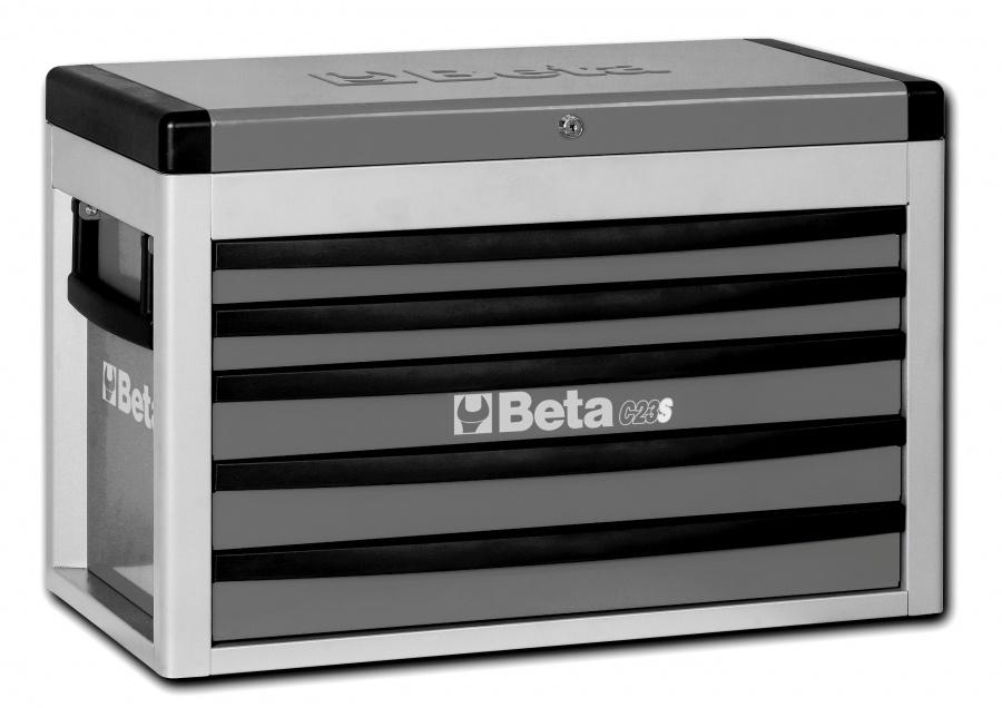 Cassettiera portatile 5 cassetti  beta c23s - grigio