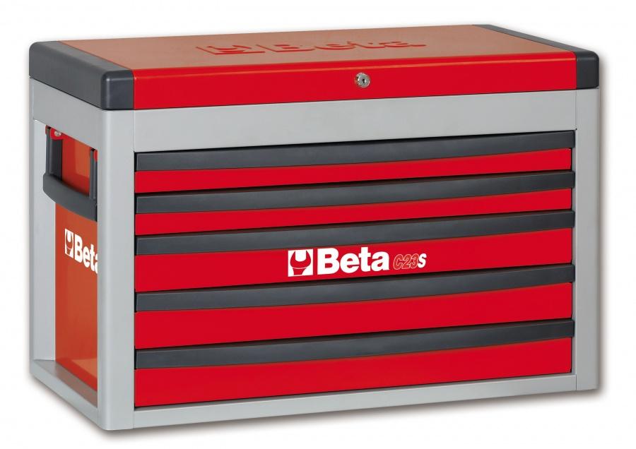 Cassettiera portatile 5 cassetti  beta c23s - rosso