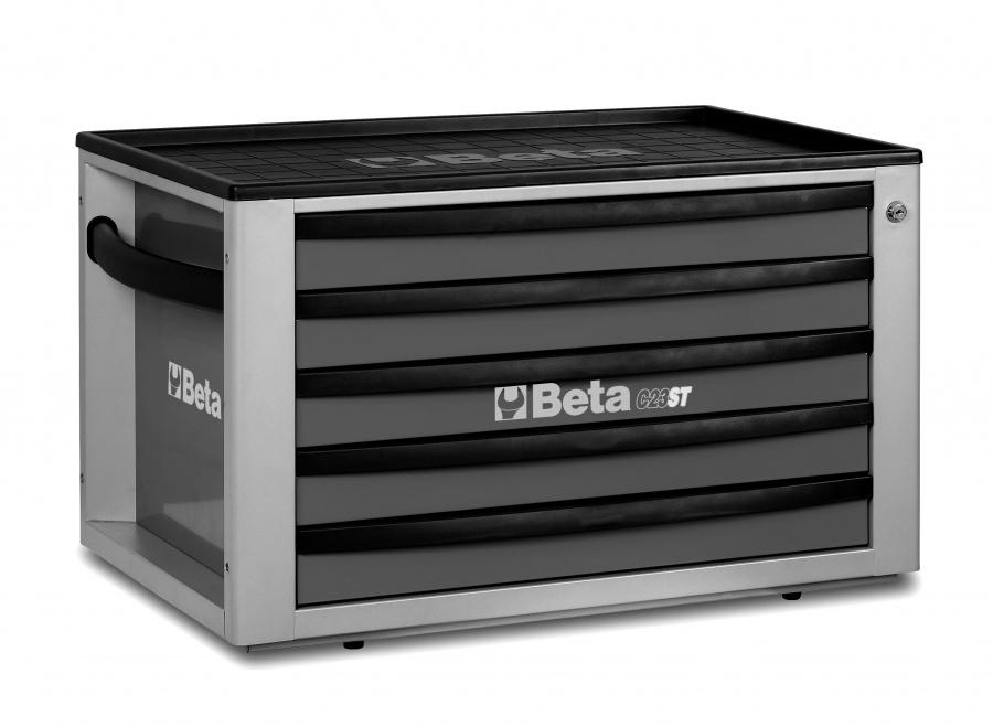 Cassettiera portatile 5 cassetti  beta c23st  grigio