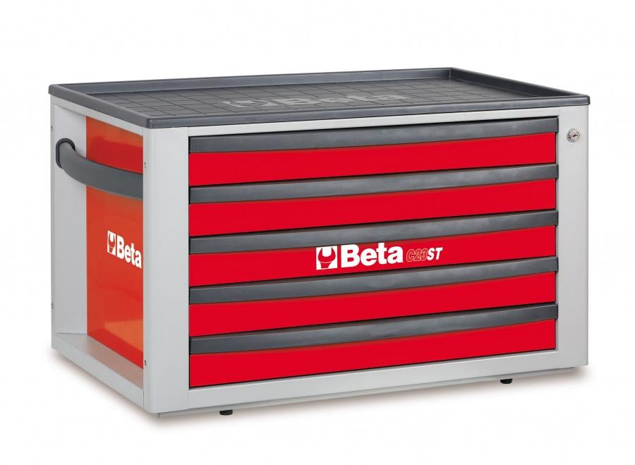 Cassettiera portatile 5 cassetti  beta c23st  rosso