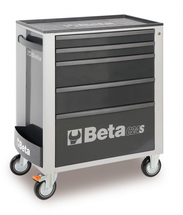 Cassettiera mobile 5 cassetti  beta c24s/5 gray