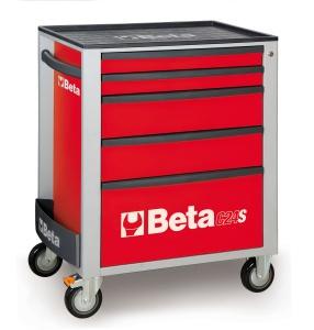 Cassettiera mobile 5 cassetti  beta c24s/5  red