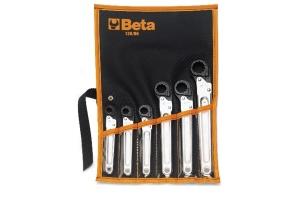 Serie chiavi a cricchetto poligonali aperte  beta 120/b6 - dettaglio 1