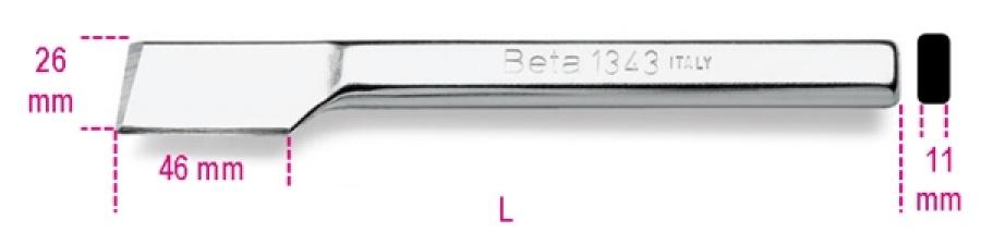 Scalpello piatto  beta 1343 - dettaglio 1