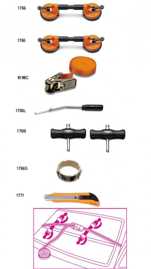 Set utensili per cristalli  beta 1766/8 - dettaglio 1