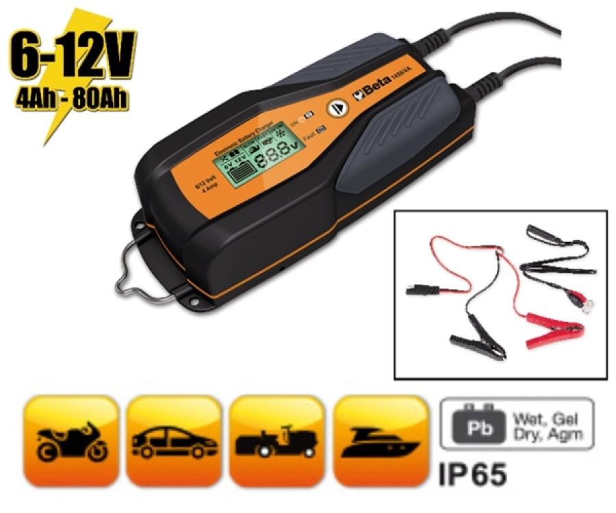 Caricabatterie elettronico multifunzione 6-12v  beta 1498/4a - dettaglio 1