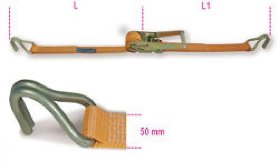 Sistema Cinghia di ancoraggio a Cricchetto Robur 8182 mt. 8