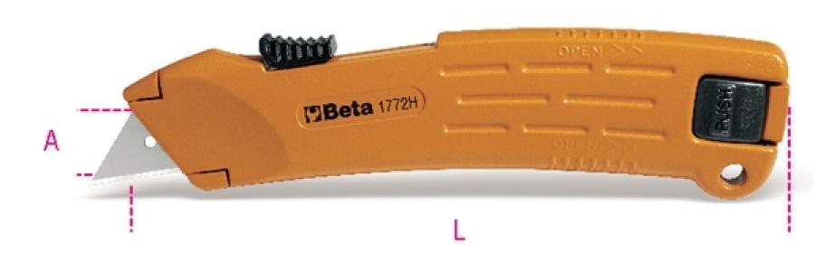 Cutter retrattile  beta 1772h - dettaglio 1