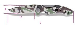 Coltello serramanico mimetico  beta 1778 cm - dettaglio 1
