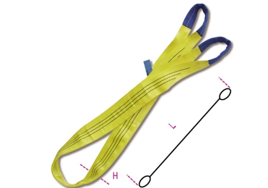 Fascia di sollevamento gialla 3 t robur 8156 - dettaglio 1