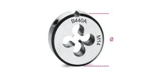 Filiera tonda acciaio cromo 38,1 passo grosso beta 440a - dettaglio 1