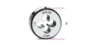 Filiera tonda acciaio cromo 50,8 passo fine beta 441b - dettaglio 1