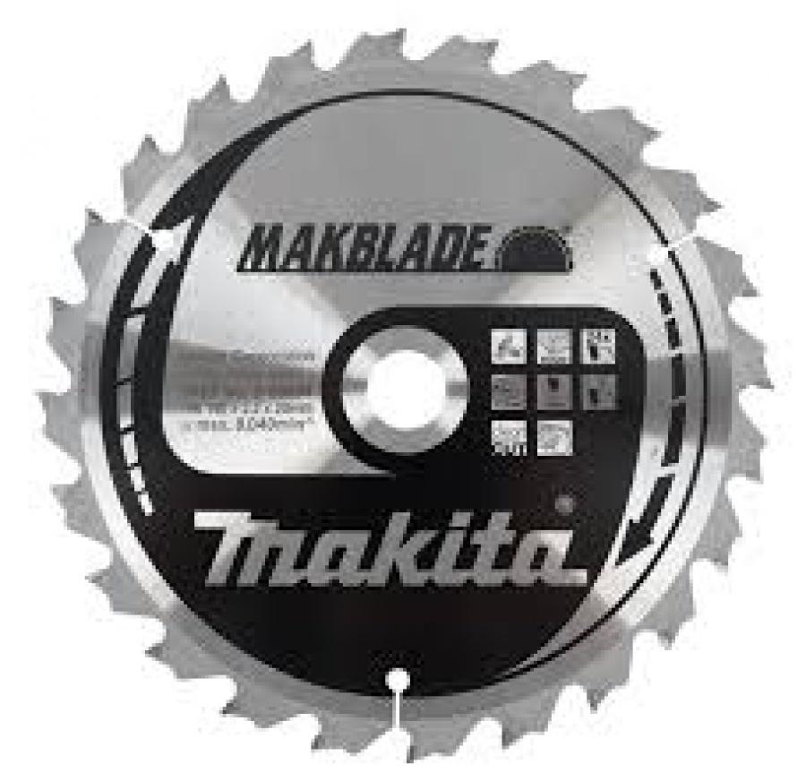 Lama MakBlade per Legno per Troncatrici di ogni marca Makita art. B-08953 Tipo MSC19048E F.20 Z48 Taglio Grossolano D. mm. 190