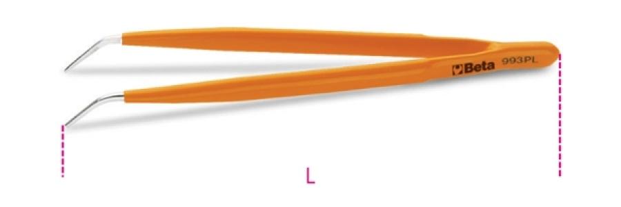 Pinzetta a molla  punte fini curve beta 993pl - dettaglio 1