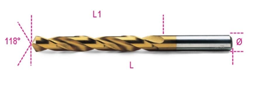 Punta rettificata hss titanio  beta 414 - dettaglio 1