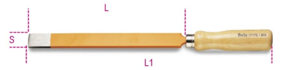 Raschietto piatto  beta 1717c - dettaglio 1