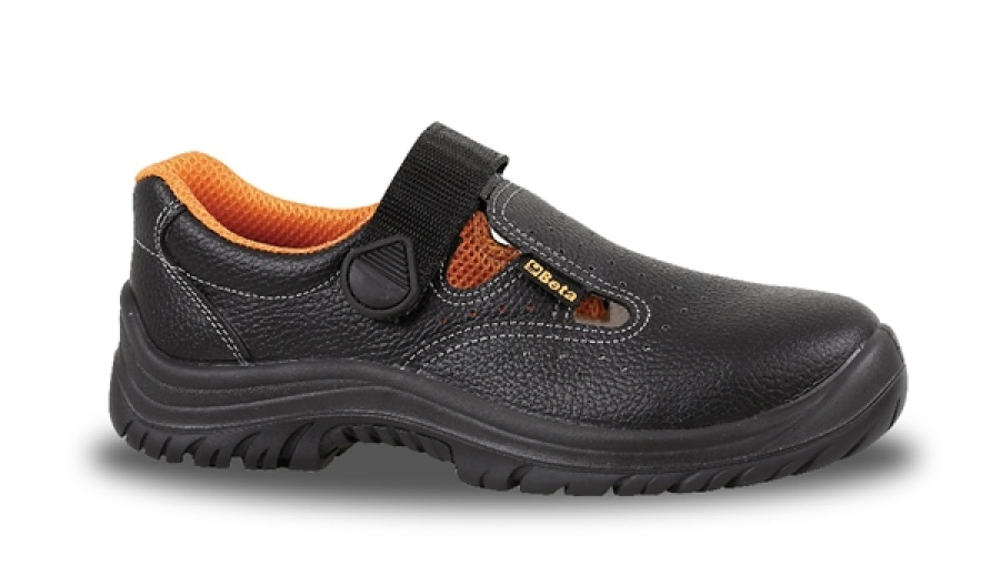 Sandali pelle beta 7247b nero - dettaglio 1