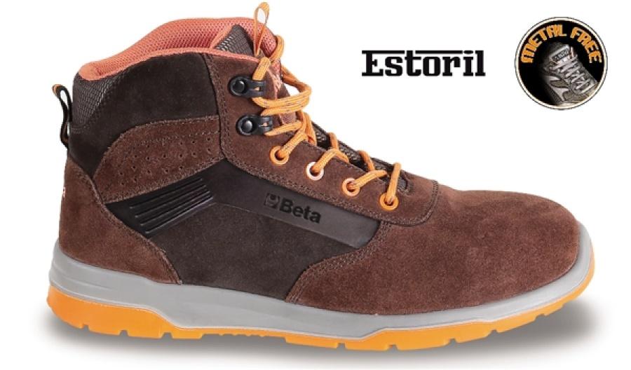 Sneakers alte estoril beta 7323m brown - dettaglio 1