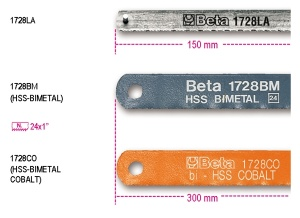 Lama seghetto bimetal  beta 1728la - dettaglio 1