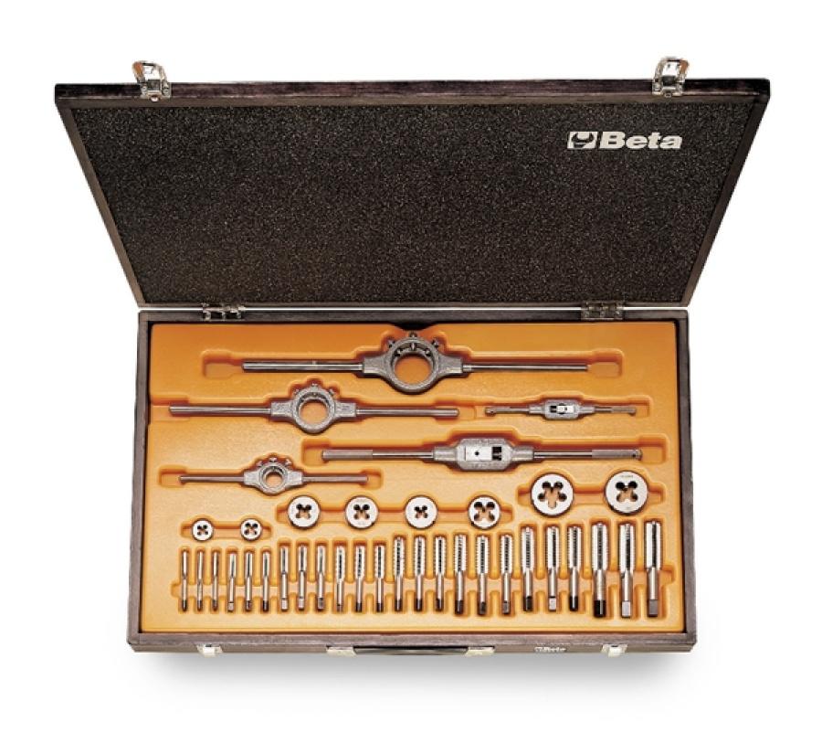 Assortimento maschi e filiere acciaio al cromo passo unc beta 446asc/c37 - dettaglio 1