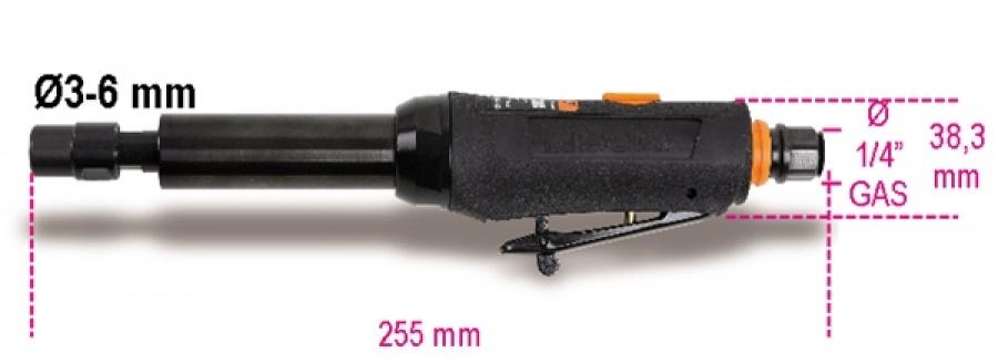 Smerigliatrice pneumatica assiale albero prolungato beta 1933l - dettaglio 1