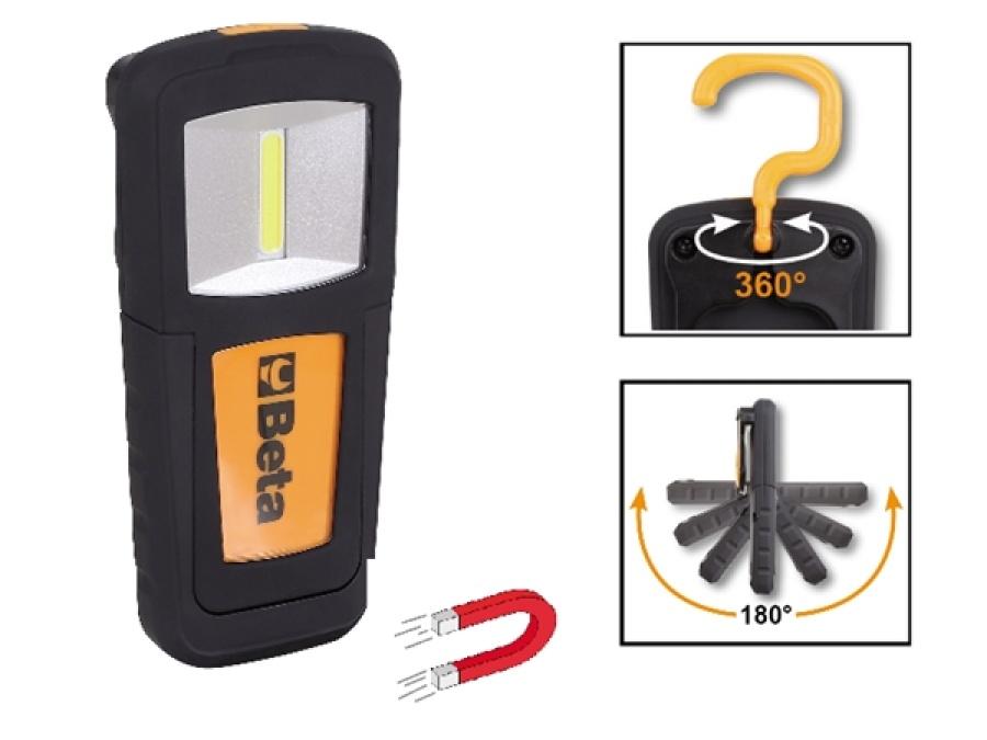 Lampada led portatile ricaricabile  beta 1838cob - dettaglio 1