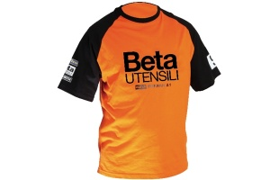 T-shirt march-beta vintage beta 9572mb arancio - nera - dettaglio 1