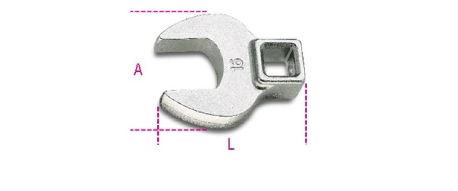 Chiave zampa di gallo  3/8 beta 910cf - dettaglio 1