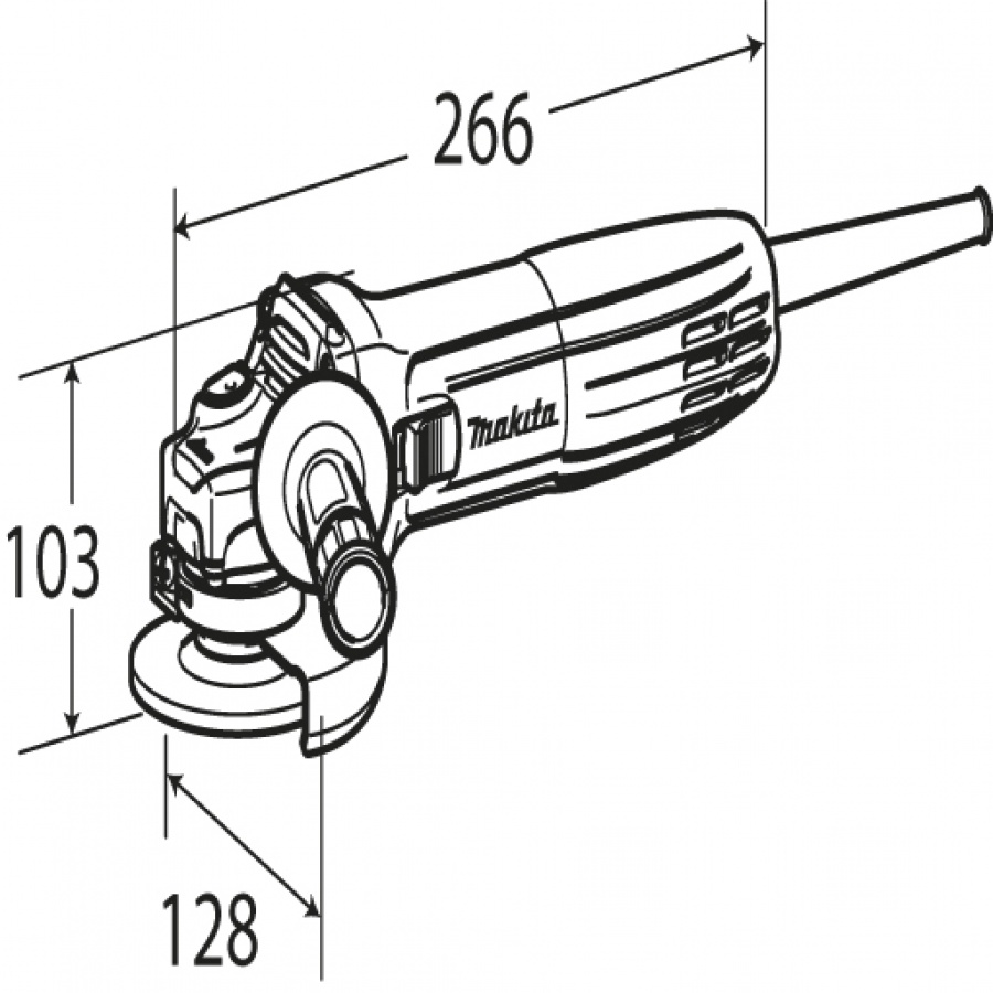 Disegno smerigliatrice angolare Makita GA4530