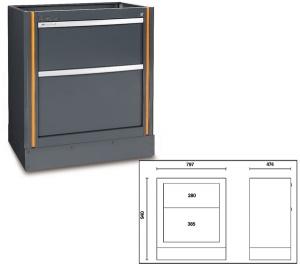 Modulo fosso 2 cassetti racing system rsc55 beta c55m2 - dettaglio 1