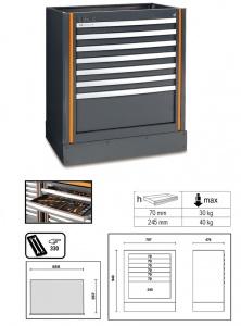 Cassettiera fissa 7 cassetti racing system rsc55 beta c55m7 - dettaglio 1