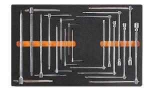 Chiavi bussola e brugola a t con termoformato morbido beta m65 - dettaglio 1