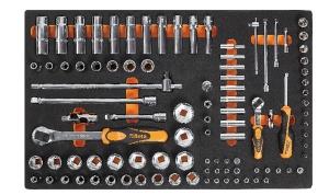Chiavi a bussola e accessori 1/4-1/2 con termoformato morbido beta m100 - dettaglio 1