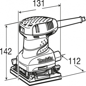 Disegno Levigatrice orbitale 200W Makita BO4555