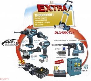 Set elettroutensili 18v makita DLX4090TJ1 - Dettaglio 1