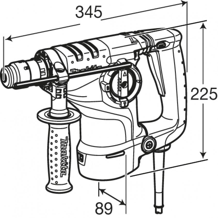 Disegno tassellatore Makita HR2811FT