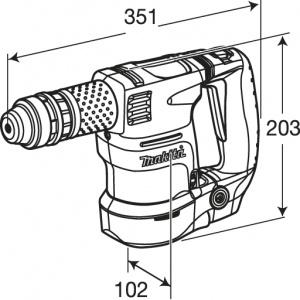 Disegno Scalpellatore 550W 3,1J Makita HK1820