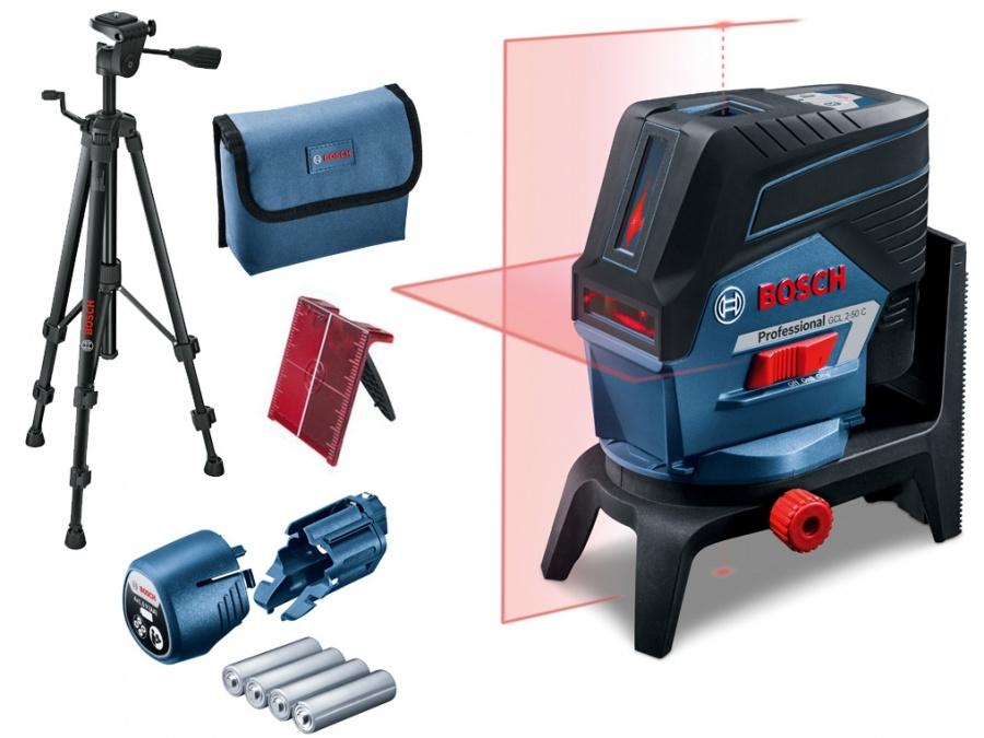 Livella laser bosch 0601066g02 gcl 2-50 c + rm 2 + bt 150g - dettaglio 1