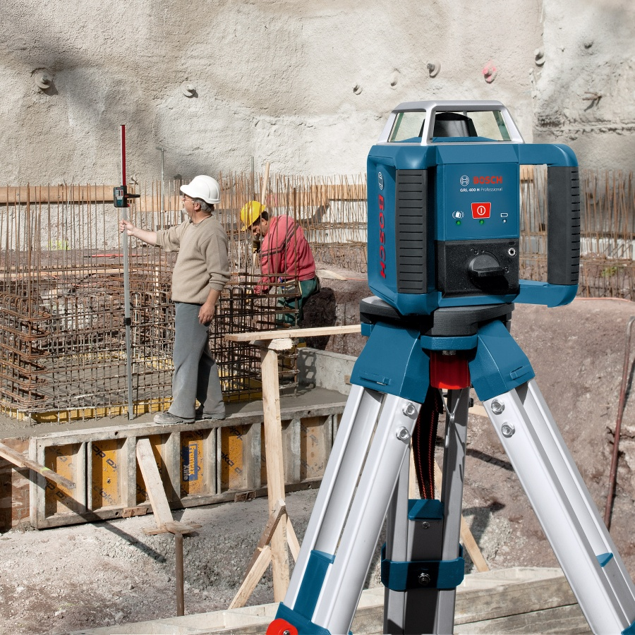 Livella laser rotante bosch 061599403u grl 400 h + bt 170 hd + gr 240 - dettaglio 3