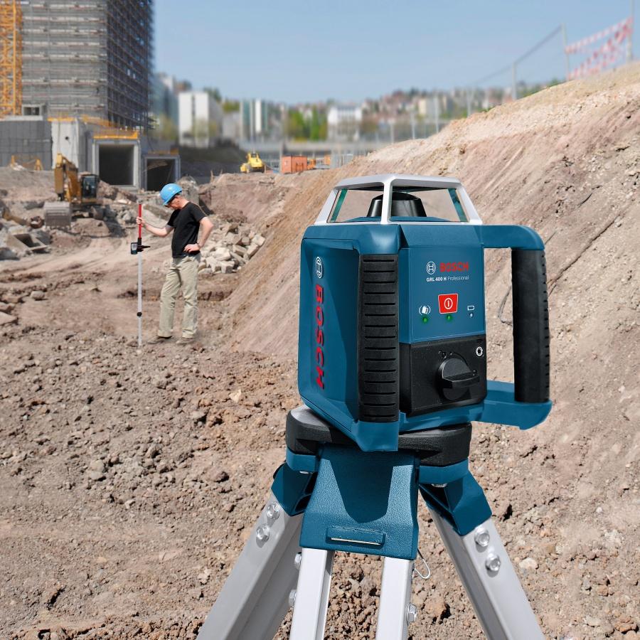 Livella laser rotante bosch 061599403u grl 400 h + bt 170 hd + gr 240 - dettaglio 4