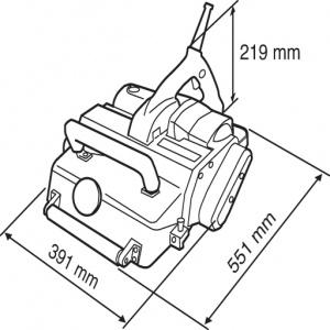 Disegno Pialla 2200W Makita KP312S  mm. 312