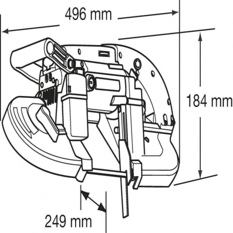 Disegno Sega a nastro portatile 710W Makita 2107FK