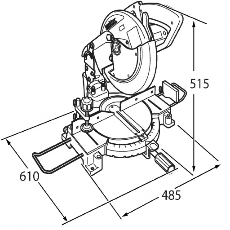 Disegno Sega da banco 1500W MLS100 mm. 255