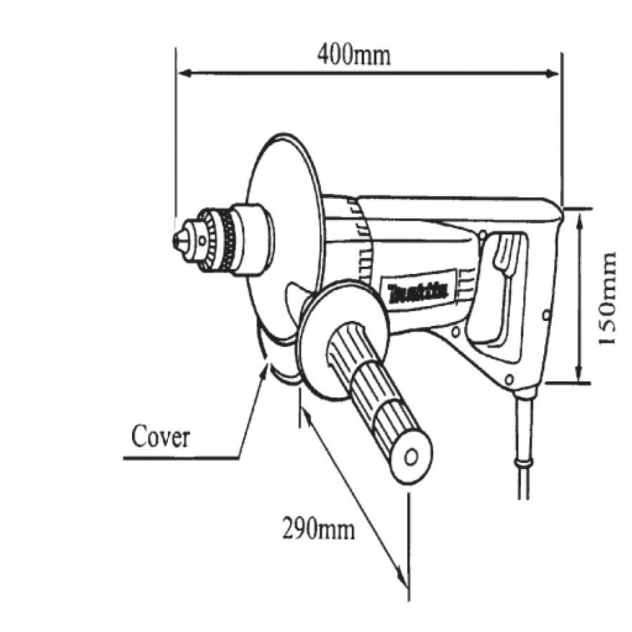 Disegno Trapano carotatrice 850W  Makita 8406 mm. 20