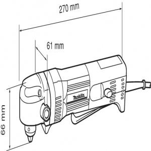 disegno Trapano avvitatore angolare Makita DA3010F 450W