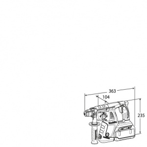 Disegno Trapano Tassellatore a batteria Makita BHR262RDJ  (BHR262RDE) 36V 2,6Ah