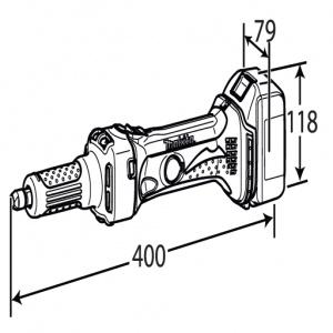 Disegno Smerigliatrice Diritta Makita BGD800 18V 3,0 Ah