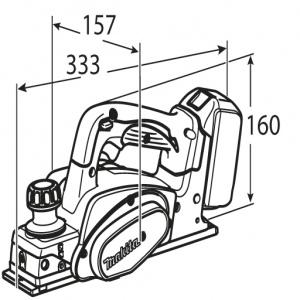 Disegno Pialla Makita DKP180Z ( Ex BKP180Z) 18V mm. 82 Solo Corpo Macchina